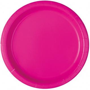 16 Papp Teller Neon Pink
