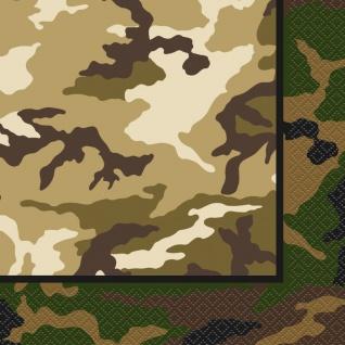 16 Servietten Camouflage