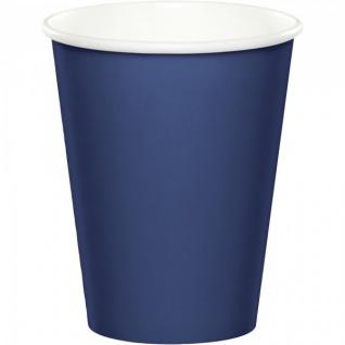 24 Papp Becher Marine Blau