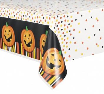 Halloween Tischdecke lachender Kürbis