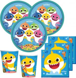 36 Teile Baby Shark Party Deko Set 8 Kinder