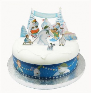 Tortendeko Set The Snowman and The Snowdog