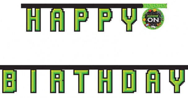 Geburtstags Girlande Gaming Party
