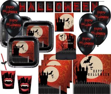 XXL Halloween Party Deko Set Vampir Schloss für 8 Personen