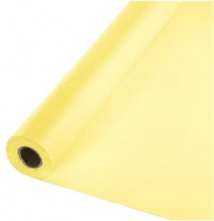 30 Meter Rolle Plastik Tischdecke Pastell Gelb