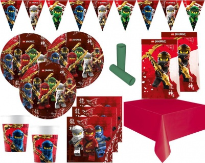XL 47 Teile Ninjago Party Deko Set 8 Personen