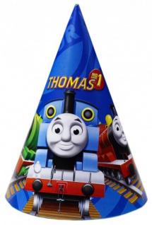 6 Thomas Eisenbahn Party Hütchen