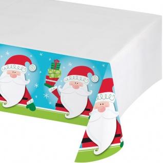 Weihnachtsmann und Pinguin Tischdecke