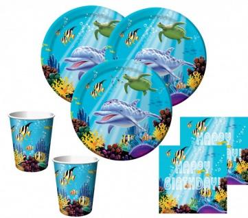 32 Teile Ozean Geburtstags Deko Set für 8 Kinder