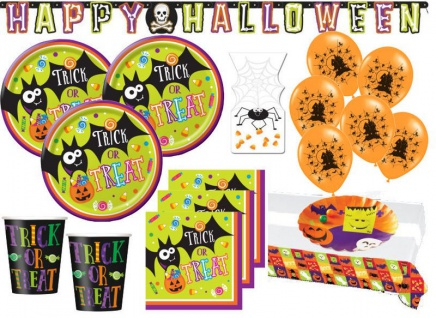 XXL 53 Teile Halloween Freunde Party Deko Set 8 Personen
