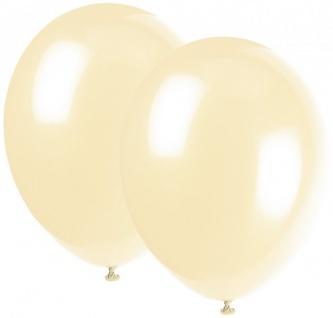 10 Luftballons Elfenbein