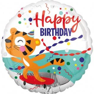Geburtstags Folien Ballon Tiger