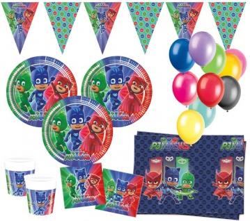XL 48 Teile PJ Masks Pyjamahelden Party Deko Set 8 Kinder