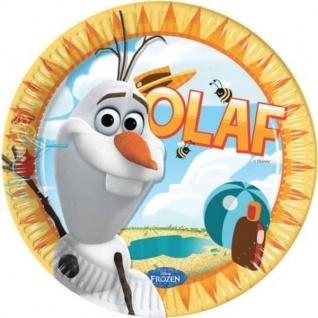 8 Teller Frozen Eiskönigin Olaf im Sommer