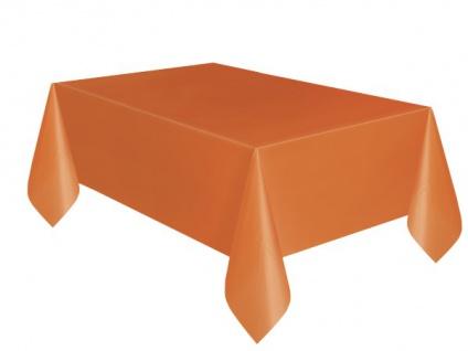 Plastik Tischdecke Orange 137x274 cm