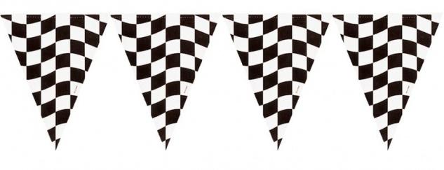 Schwarz Weiß Formel 1 Wimpel Banner