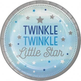 48 Teile Blinke Kleiner Stern Blau Party Deko Set 16 Personen für die Baby Shower oder Kindergeburtstag - Vorschau 2