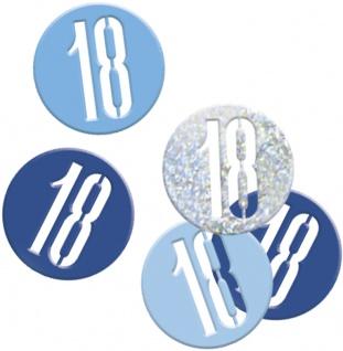 Deko Konfetti Blue Dots Glitzer zum 18. Geburtstag
