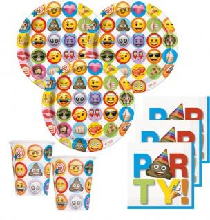 32 Teile Emoji Fun Party Deko Set für 8 Personen