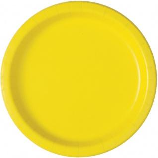 50 Teile Party Deko Set Neon Gelb für 14 Personen - Vorschau 2