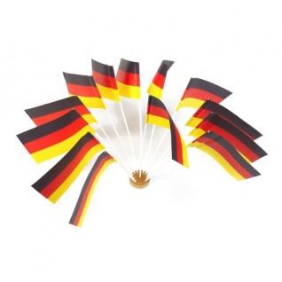10 Papier Fähnchen Deutschland