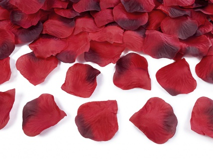 100 Rote Rosenblätter aus Stoff