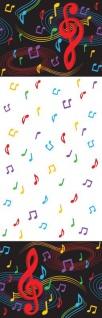 Plastik Tischdecke tanzende Noten