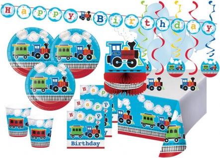 XXL 50 Teile Eisenbahn Geburtstags Party Deko Set 8 Personen