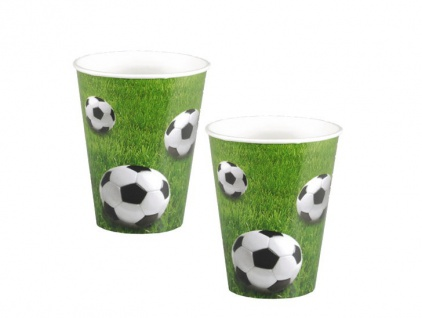 10 Fußball Party Becher Eckball