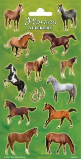 1 Bogen Pferde Papier Sticker