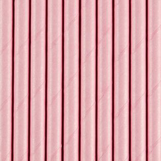 10 Papier Trinkhalme rosa