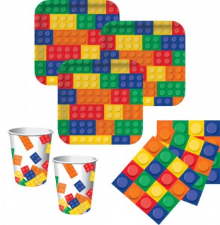 32 Teile Bausteine Party Set für 8 Kinder
