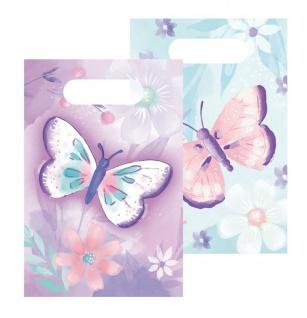 8 Papier Tütchen Schmetterling in Rosa