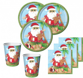 34 Teile Weihnachts Deko Set Relaxing Santa 8 Personen