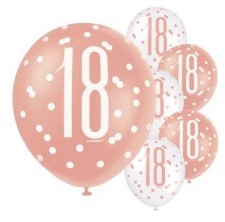 6 Luftballons Urban Apricot zum 18. Geburtstag