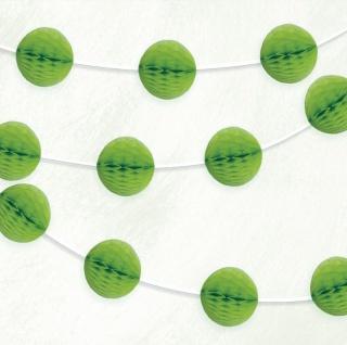 Girlande mit grünen Papier Dekobällen