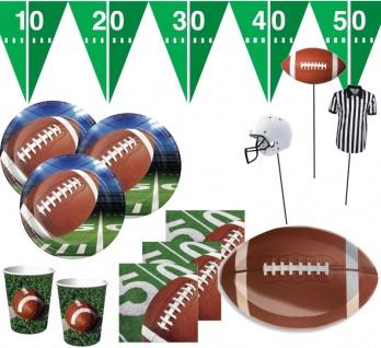 XXL 37 Teile American Football Superbowl Party Deko Set 8 Personen