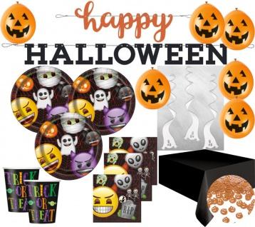 XXL Halloween Deko Set Emoji für 16 Kinder