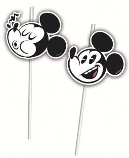 6 Trinkhalme Micky Maus Retro