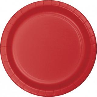 36 Teile Party Deko Set Klassisch Rot für 8 Personen - Vorschau 2