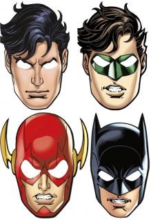 8 Masken Justice League - Batman Superman Flash Green Lantern