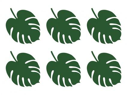 Palmen Blätter - 6 Platzkarten oder Tischdeko Jungle - Monstera