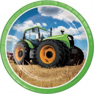 8 Teller Traktor Party
