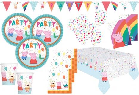XL 48 Teile Peppa Wutz Party Deko Set für 8 Kinder