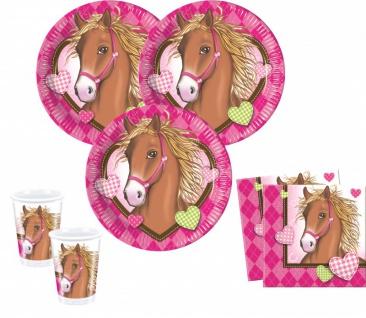 36 Teile Pferd Pink Pony Party Deko Set für 8 Kinder