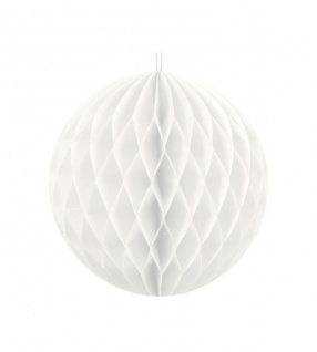 Wabenball Weiß 20 cm
