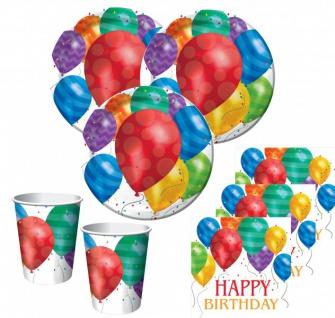 32 Teile bunte Ballons Geburtstags Party Deko Set für 8 Personen
