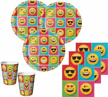 32 Teile Smiley Emoticons Basis Party Deko Set für 8 Personen