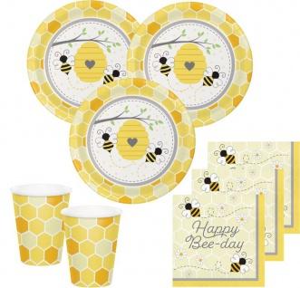 32 Teile Bienchen Sommer Garten Geburtstags Party Deko Set für 8 Personen