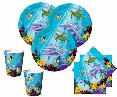 32 Teile Ozean Party Deko Set für 8 Kinder